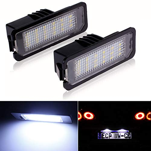 Motorcycle Auto White LED License Plate 45° Bolts Lights Fasteners Black 2x