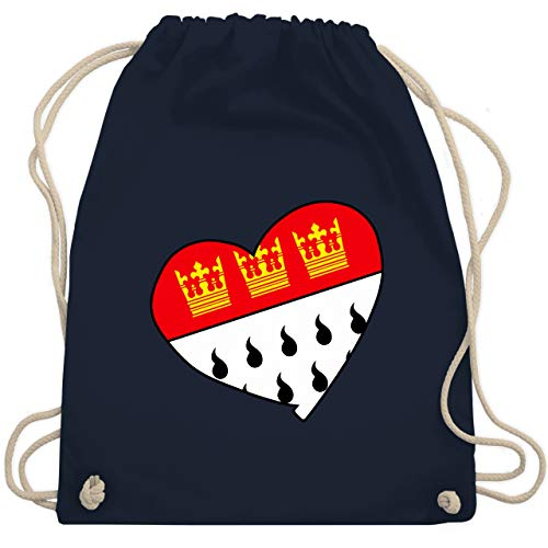 Karneval & Fasching - Köln Wappen Herz - Unisize - Navy Blau - WM110 - Turnbeutel & Gym Bag