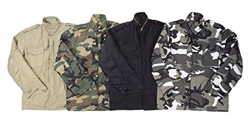 RTC M65Champ Militaire pour Homme avec intérieur matelassé amovible liner-woodland Camouflage Multicolore - woodland camouflage