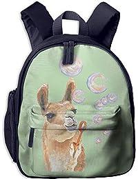 Funny Schoolbag Backpack Llama Blowing Alpaca Toddler Kids Pre School Bag  Cute 3D Print Children School 9270495a584c