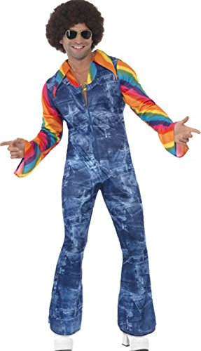 Smiffys groovier Dancer Herren Kostüm für Erwachsene 1970's Disco Fancy Party komplett Kleid (1970's Disco Kostüm)