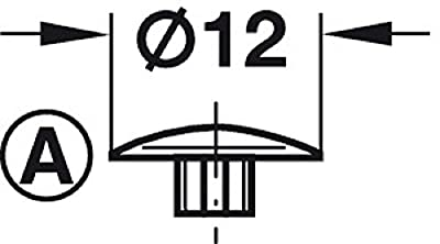 Gedotec Schrauben-Abdeckungen rund Schrauben-Kappen Kunststoff Verschluss-Stopfen braun RAL 8014 | H1121 | Ø 12 mm | Innenstern IS20 | Möbel-Abdeckkappen zum Eindrücken für Senkkopf mit Antrieb | 100 Stück von Gedotec auf Gartenmöbel von Du und Dein
