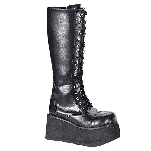Demonia Trashville-502 Plateau Stiefel schwarz Blk Vegan Leather