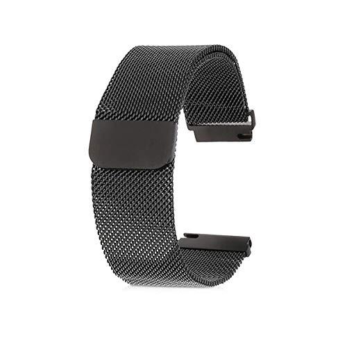 kwmobile cinturino orologio per huawei watch 2 / samsung gear s2 classic - cinturino di ricambio a maglia milanese in acciaio inox per smartwatch - con chiusura magnetica