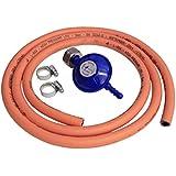 Boiling Ring Hose Kit Includes Screw on Butane Regulator for 4.5Kg Butane