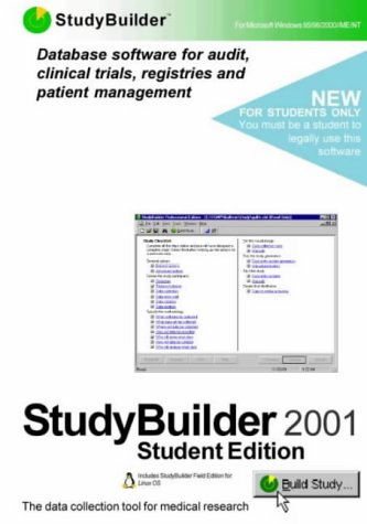 Studybuilder Student Edition with Studybuilder Field Edition for Linux OS: Database Software for Audit, Clinical Trials, Registries and Patient Management