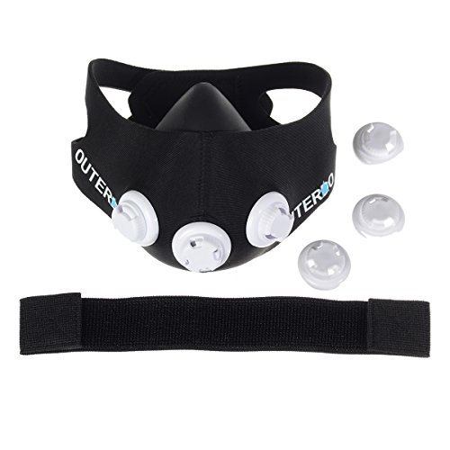 OUTERDO Sport Mask Atemmaske Fitness Masken Für Elevation-Mask 2.0 Anaerobem Training Höhentraining M - 7