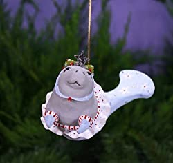 Patience Brewster Krinkles Mable Manatee Mermaid Ornament 2014 By Patience Brewster