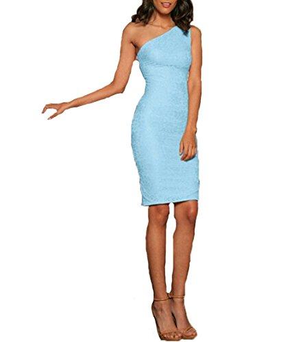 Stretchy Spitze ärmel Fantasie-Partei-Mutter-Tochter-Kleid Adult-S Blau (Adult Baby Blau Baby Kostüme)