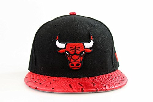New Era Herren Cap 7 1/8 Schwarz Rot 5950 Reptile Mix Chicago Bulls NBA Cap S16 (Chicago Bulls Dress)