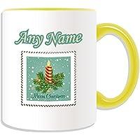 Regalo personalizzato–Candela di Natale timbro tazza, motivo: Buon Natale, vari