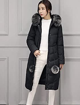 TT & ShangYi Standard relleno de mujer, Abrigo moda ciudad para USCIRE tinta unita otro polipropileno manga larga, S