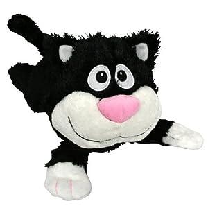 Mint Concepts Chuckle Buddies - Gato de Peluche (Sonriente y Tumbado)