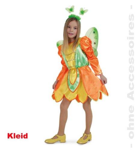 Fries 1826 Schmetterling Kleid Kinder Fasching Karneval Mädchen Kostüm: Größe: 140