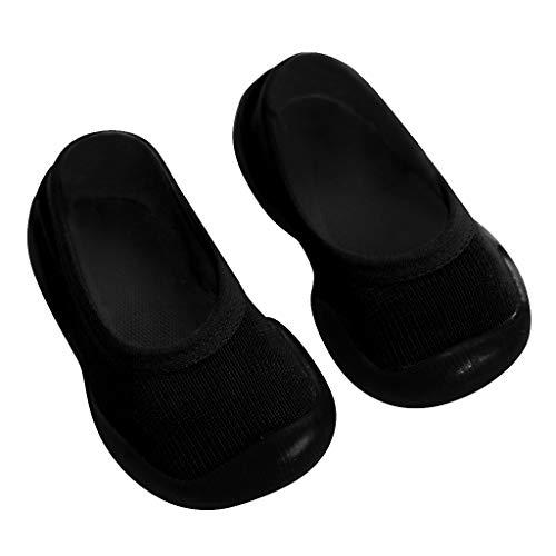LILIGOD Neugeborenes Baby Slipper Mädchen Kinder Gummi Schuhe Weiche Sohle Kleinkindschuhe Socken Schuhe Bequeme rutschfeste Bodenschuhe Slip On Lauflernschuhe Geschlossene Schuhe (Schwarze Riemchen Mädchen Kostüm Heel Schuhe)