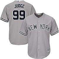 Uniforme de béisbol Judge 99 Camiseta de tamaño con artesanía Bordada, Sudadera con Nombre y número de Jugador Personalizado-Gray-Men~M