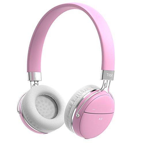 Bluetooth Kopfhörer, Tribit XFree Move Stereo Wireless Kopfhörer mit Mikrofon, Rich Bass, 14 Stunden Spielzeit, 2 Treiber von 40mm Durchmesser, Bluetooth 4.1 Csr Chips, 3.5mm Aux Support (Stereo Ic)
