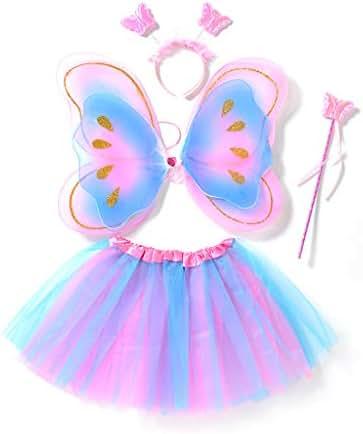 Haepe YONSIN Child Kids Boys Girls Bohemian Butterfly Print Shawl Costume Accessory Dance Butterfly Shawl Princess Fairy Wings Butterfly Wings Dress up Costume