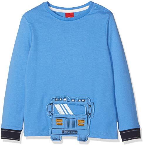 s.Oliver s.Oliver Baby-Jungen Langarmshirt 65.809.31.8141 Blau (Blue 5511) 62