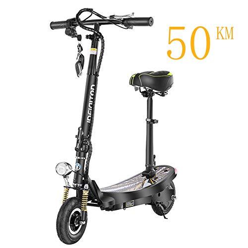 Acant Elektroscooter, Faltbar, Tragbar, Verstellbares Design, 50 Km Lange Batterie Für Mini-elektroroller Mit Zwei Rädern Für Jugendliche Und Erwachsene Black 50KM