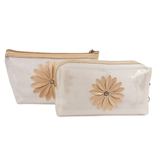 UberLyfe Transparent Cosmetics Pouch or Purse for Women – Cream