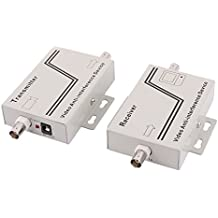 sourcingmap® Video transmisor + Denoiser dispositivo DC 12V Conector BNC hembra antiinterferente
