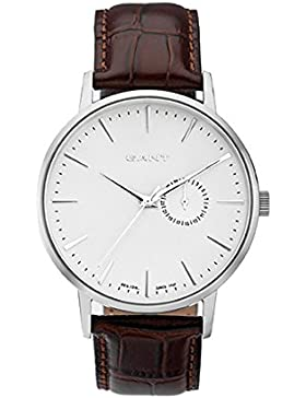 GANT Herren-Armbanduhr XL Analog Quarz Leder W10842