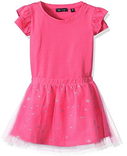 Blue Seven Mädchen Kleid Shirtkleid RH, Rosa (Pink 426), 92