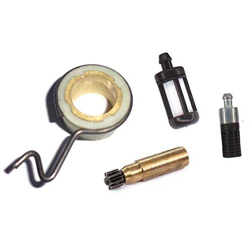 AISEN Pompe à Huile et Escargot Filtre à Huile/Essence pour Stihl 017 018 021 023 025 MS180 MS170 MS210 MS250