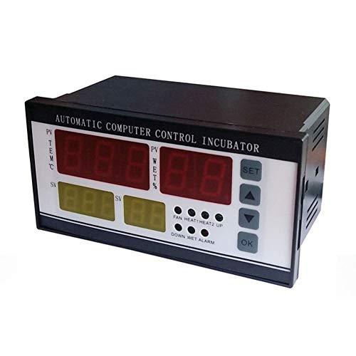GCDN XM-18 Uova Incubatrice Controller Termostato Igrostato Pieno Automatico Controllo con Temperatura Sensore umidità Sonda - Come da Foto, 16 * 9 * 8cm