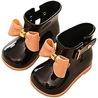 Meijunter Cute Ragazza Bambini Baby Bow Anti-Skidding Rainboots Stivali da pioggia Caucci¨´ Princess Rain Shoes Boots