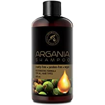 Aceite de Argan 480ml - Shampoo con Aceite de Argán Natural y Extractos de Hierbas -