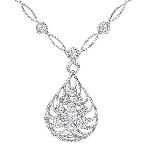Naava Diamant gefüllt zertifiziert Flame Halskette