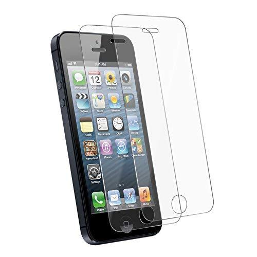 2 pack iphone se/ 5/ 5c/ 5s pellicola protettiva in vetro temperato screen protector film ultra resistente (0,33mm hd alta trasparente)