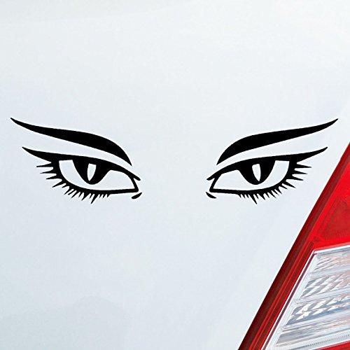Sexy, Auge (Auto Aufkleber in deiner Wunschfarbe Augen Frau Sexy Eyes Tuning Dub OEM JDM 15x4 cm Autoaufkleber Sticker Folie)
