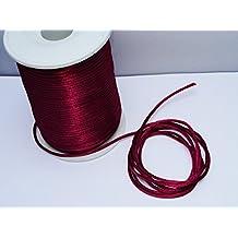 Schnur Papierdraht 2 mm rot dunkel 10 meter