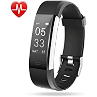 Lintelek Fitness Tracker, Large OLED Touch Screen Activity Tracker with Heart Rate Monitor