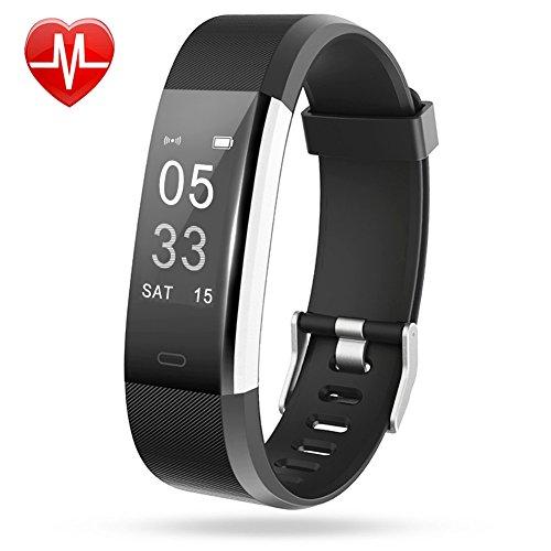 Fitness Armband Lintelek Herzfrequenzmesser fitness tracker Plus HR Sport Uhr Bracelet Spritzwasser geschützt Bluetooth Smartwatch Schrittzähler GPS Anrufe SMS Nachrichten Smart Armbanduhr schlank