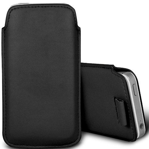 Brun/Brown - Samsung Galaxy V Plus Housse deuxième peau et étui de protection en cuir PU de qualité supérieure à cordon avec stylet tactile par Gadget Giant® Noir/Black
