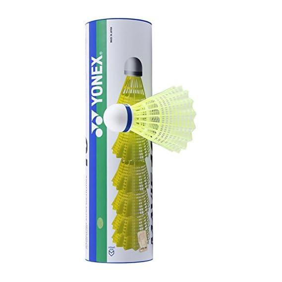 YONEX Mavis 10 Blue Cap Yellow Nylon Shuttlecock