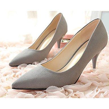 Moda Donna Sandali Sexy donna caduta tacchi Comfort Felpa casual Stiletto Heel altri Nero / Grigio / Fucsia Altri gray