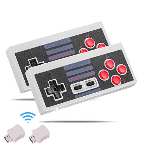 Manette sans fil pour NES Mini Classic Edition, Kyerivs 2.4G Manette de jeu sans fil pour Nintendo Mini NES Classic Edition (2 pièces)