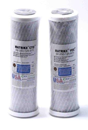 compatible marque Matrikx carbone pré et Post filtre RO pour remplacer GE FX12P (/)