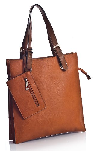 Big Handbag Shop, Borsa tote donna Arancione - Arancione
