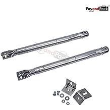 PayandPack, 42204- Bruciatore di ricambio, confezione da 2 pezzi, universale, lunghezza regolabile da 35,5 a 48 cm, tubo in acciaio inossidabile, per la maggior parte dei barbecue a gas, grill, forni, cucine, stufe, fornetti per il pane, friggitrice
