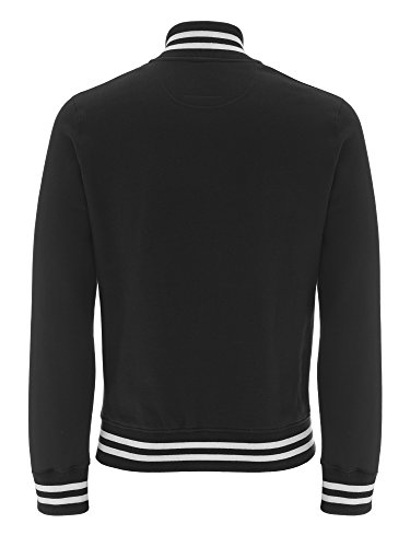 Underhood of London Herren Collegejacke Weste Schwarz - Black - White Stripes