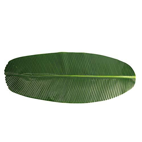 , Green Leaf Tischset Hawaiian Tropical Jungle Theme Party Dekoration Tischläufer Küche Dining Tischset Bowl Dish Pads ()