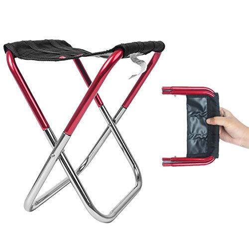 Kompakter Ultraleicht Klappstuhl, Tragbar Mini Aluminium Campingstuhl Klapphocker Grillbank, Als Garten Picknick Grill Angeln im Tasche,23 * 13 * 25.5cm