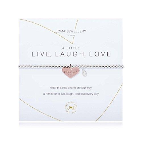 Joma Jewellery Armband-A Little Live Laugh Love (Leben Lachen Liebe Weiß)