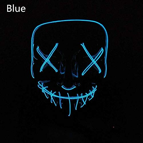 HITSAN INCORPORATION Halloween Mask The Purge LED Light Glow in Dark Festival Cosplay Costume Supplies Election Year Great Party Funny Masks